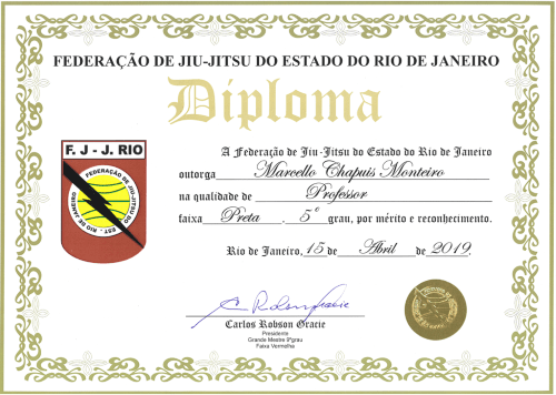 5th Degree Rio Diploma