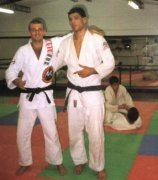 Rodrigo Nogueira (Minotauro) with his friend Marcello C. Monteiro.