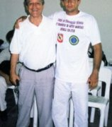 Marcello C. Monteiro next to the President