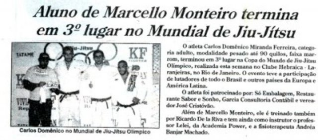 Marcello's student comes in third place during World Jiu-Jitsu Championship